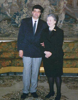 H.E. Count Kamensky end Princesse Andronikoff in St. Petersburg, Smolnij palace